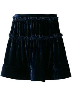 расклешенная бархатная юбка Alberta Ferretti