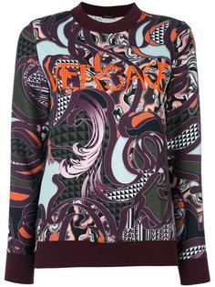 джемпер с логотипом Baroccoflage  Versace