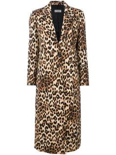 пальто с леопардовым принтом  Alberto Biani
