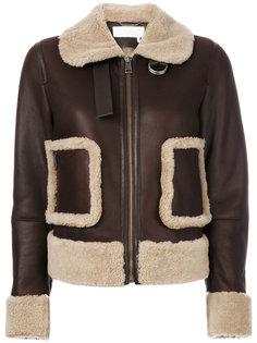 куртка с отделкой на карманах Chloé