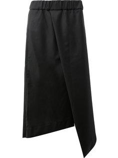 """асимметричные укороченные брюки фасона """"фартук"""" Moohong"""