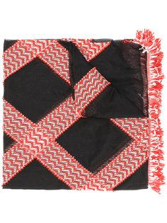 шарф с рисунком Giorgio Armani