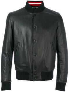 куртка-бомбер с воротником с ребристой фактурой Pihakapi