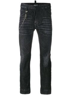 байкерские джинсы Dsquared2