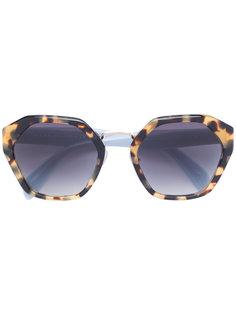 солнцезащитные очки с черепаховым эффектом Prada Eyewear
