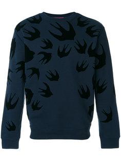 свитер с круглым вырезом с ласточками McQ Alexander McQueen