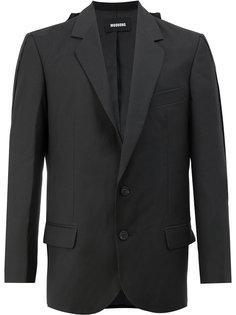 пиджак с плиссировкой и принтом на спине Moohong