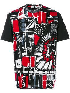 футболка с абстрактным принтом Versace