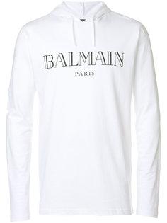 толстовка с капюшоном и логотипом Balmain