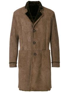 однобортное пальто из шкуры ягненка Etro