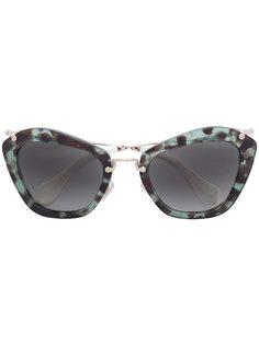 солнцезащитные очки в оправе кошачий глаз Miu Miu Eyewear