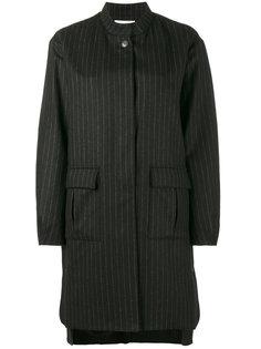 пальто-кокон в тонкую полоску  Lot78