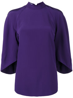 блузка с объемными рукавами  Prada