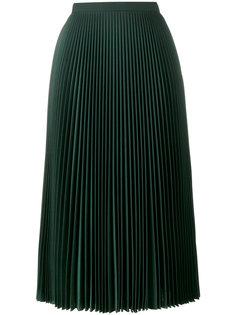 А-образная юбка с плиссировкой  Prada