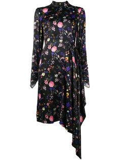 асимметричное платье с бантом  Osman