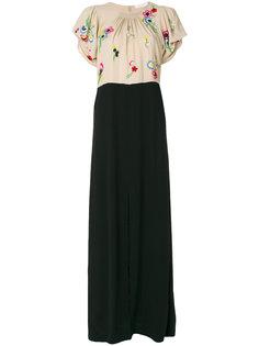 платье с цветочной вышивкой Chloé