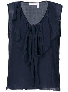 блузка без рукавов с оборками See By Chloé