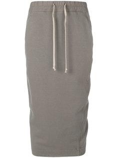 юбка с драпировкой  Rick Owens DRKSHDW