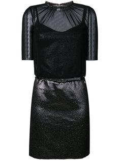 платье из контрастных лифа и юбки Twin-Set