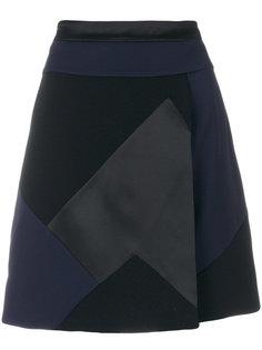 patchwork mini skirt Victoria Victoria Beckham
