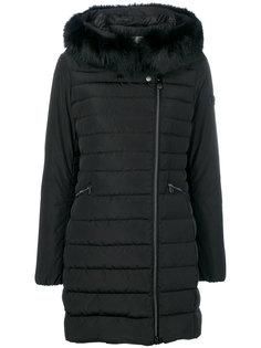 дутая куртка с меховой отделкой  Peuterey
