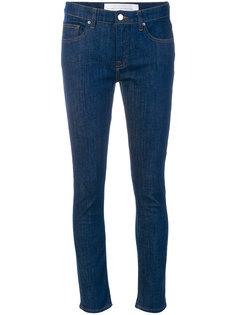 джинсы слим в стиле пэчворк  Victoria Victoria Beckham