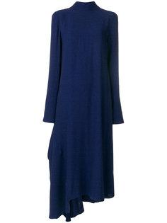 платье с высокой горловиной и асимметричным подолом Marni
