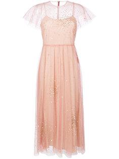 декорированное тюлевое платье миди  Red Valentino