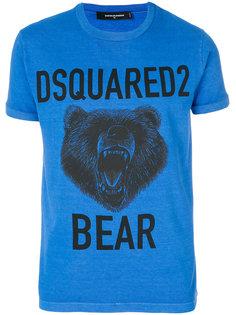 футболка с принтом в виде медведя Dsquared2