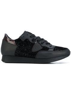 кроссовки с блестящими панелями Philippe Model