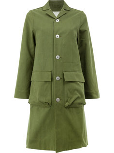 однобортное пальто милитари  Toogood