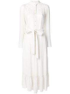 платье с длинными рукавами и кружевной отделкой Chloé