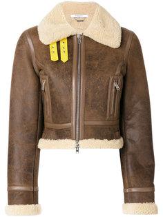 байкерская куртка с подкладкой из овечьей шерсти Givenchy