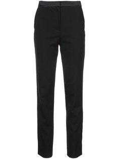 брюки скинни с атласным поясом Oscar de la Renta