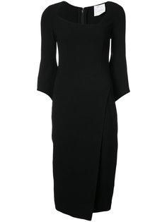 асимметричное платье ниже колена  Oscar de la Renta