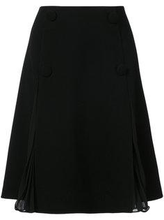 юбка мини с шифоновой отделкой Oscar de la Renta