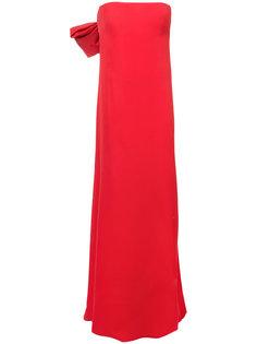 вечернее платье без бретелек Oscar de la Renta