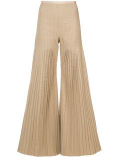 брюки палаццо с плиссировкой Huishan Zhang