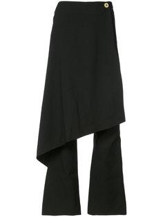 брюки клеш с резным передником Solace London