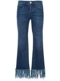 джинсы скинни с бахромой  3X1