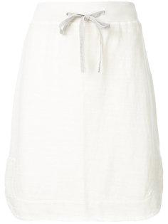 короткая юбка с завязкой на талии James Perse