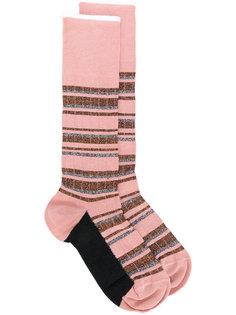 блестящие носки в полоску  Marni