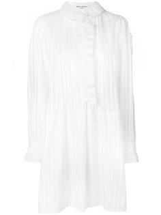 полупрозрачное платье-рубашка с полосками Sonia Rykiel