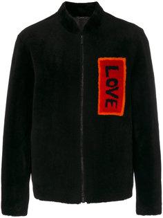 куртка-бомбер  с заплаткой love  Fendi