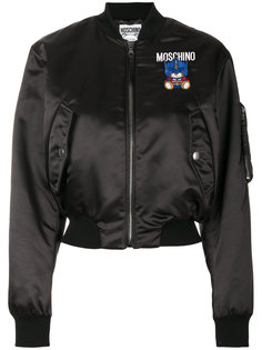 куртка-бомбер с нашивкой медведем  Moschino
