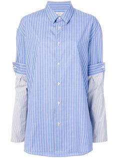 рубашка с контрастными рукавами Maison Margiela