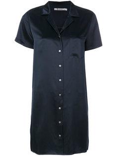 шелковое платье-рубашка T By Alexander Wang