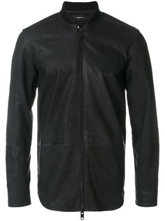 кожаная куртка на молнии Diesel