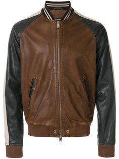 кожаная куртка-бомбер Diesel
