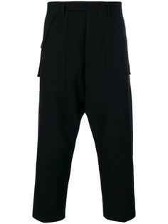 классические брюки с заниженной проймой Rick Owens